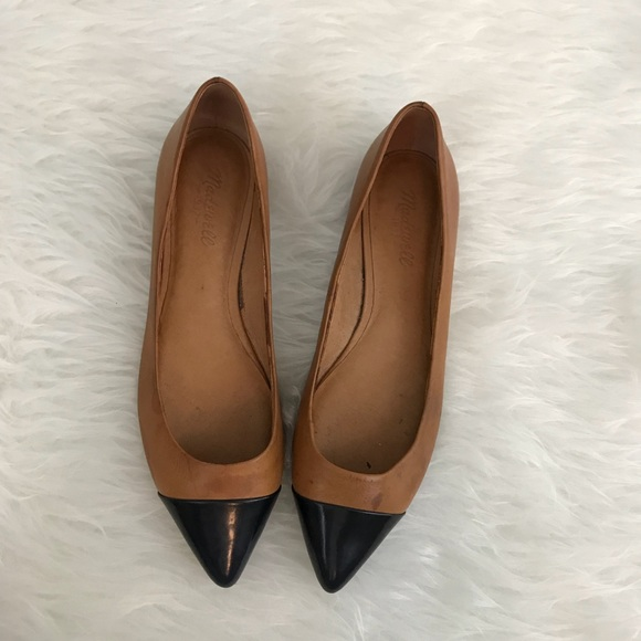 Madewell Shoes - Madewell Cap Toe Skimmer Pointed Flats